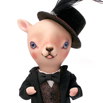 doll arttoy bisque bjd pocelain sheep cat leledoll leejaeyeon