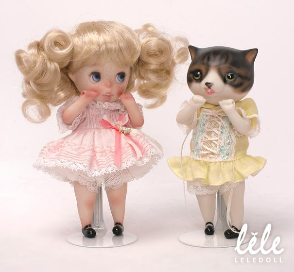doll arttoy designertoy bisque bjd pocelain sheep cat child leledoll leejaeyeon