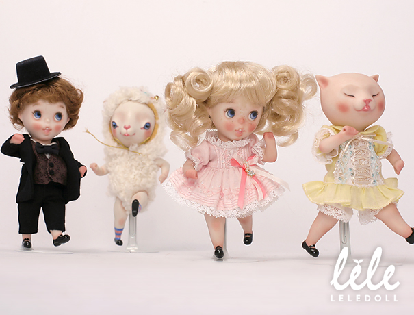 doll arttoy designertoy bisque bjd pocelain sheep cat child leledoll leejaeyeon