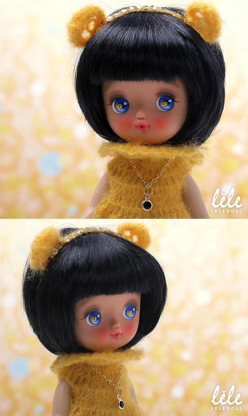 doll bjd resin leledoll neobel ori leejaeyeon light tan skin golden dog 2018